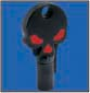 SKULL ROUND BARREL KEY BLANK FOR HARLEY DAVIDSON � TKS-1001-137 � BLACK / RED