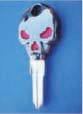 SKULL KEY FOR HARLEY DAVIDSON SPORTSTER 1994 � PRESENT � TKS-1001-234 � BLACK / RED