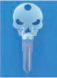 SKULL KEY FOR HARLEY DAVIDSON SPORTSTER 1984 � 1995 � TKS-1004-226 � CHROME / BLACK