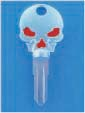 SKULL KEY FOR HARLEY DAVIDSON SPORTSTER 1984 � 1995 � TKS-1005-226 � CHROME / RED