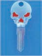 SKULL KEY FOR HARLEY DAVIDSON SPORTSTER 1994 � PRESENT � TKS-1005-234 � CHROME / RED