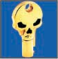 SKULL ROUND BARREL KEY BLANK FOR HARLEY DAVIDSON � TKS-1007-137 � GOLD / BLACK