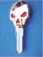 SKULL KEY FOR HARLEY DAVIDSON SPORTSTER 1994 � PRESENT � TKS-1008-234 � GOLD / RED