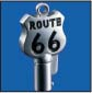 ROUTE 66 ROUND BARREL KEY BLANK FOR HARLEY DAVIDSON � TKS-1014-137 � CHROME / BLACK