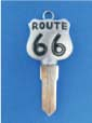 ROUTE 66 KEY FOR HARLEY DAVIDSON SPORTSTER 1994 � PRESENT � TKS-1014-234 � CHROME / BLACK