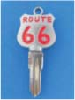 ROUTE 66 KEY FOR HARLEY DAVIDSON SPORTSTER 1984 � 1995 � TKS-1015-226 � CHROME / RED