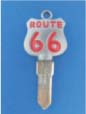 ROUTE 66 KEY FOR HARLEY DAVIDSON SPORTSTER 1994 � PRESENT � TKS-1015-234 � CHROME / RED