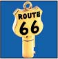 ROUTE 66 ROUND BARREL KEY BLANK FOR HARLEY DAVIDSON � TKS-1017-137 � GOLD / BLACK