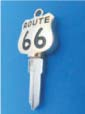ROUTE 66 KEY FOR HARLEY DAVIDSON SPORTSTER 1994 � PRESENT � TKS-1017-234 � GOLD / BLACK