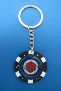 PACKARD AUTO LEATHER KEYCHAIN KEY CHAIN RING FOB #277