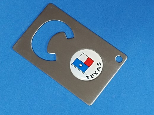 COLOMBIA COLUMBIA FLAG LOGO KEY RING NAIL CLIPPER BOTTLE OPENER #166